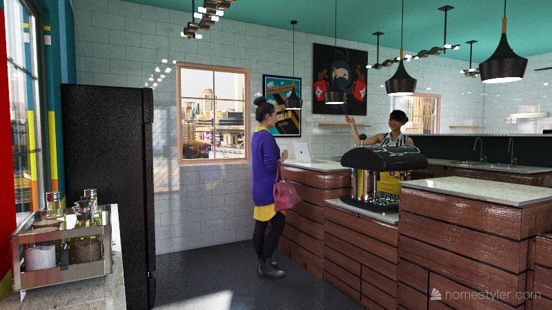 Coffee Shop Layout 2 Interior Design Render