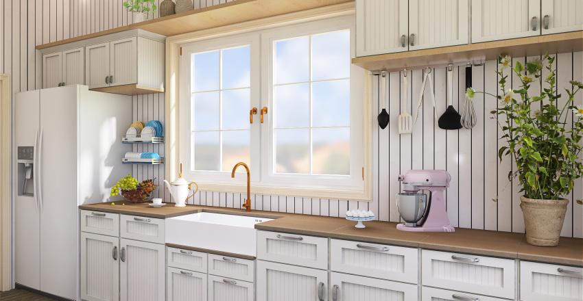 Cozinha de Fazenda Interior Design Render