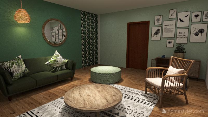 Salon Evasion végétale Interior Design Render