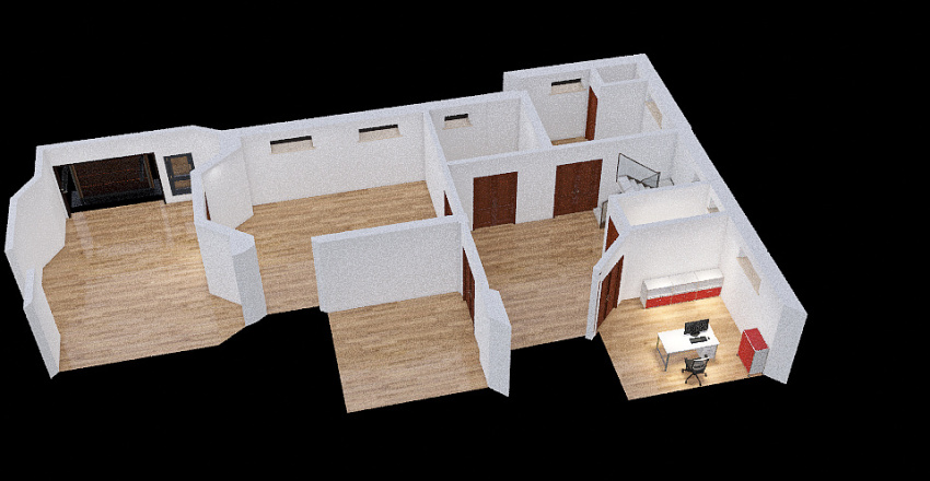 Subsuelo Proyecto 3 Interior Design Render