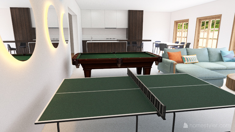 Contemporary Final Floor Plan Interior Design Render