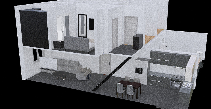 Reena Visuals - Double Ext. - with Utility Room/Gym Interior Design Render