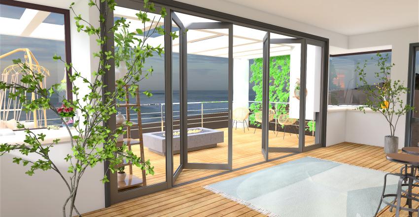 Costal Kitchen Interior Design Render