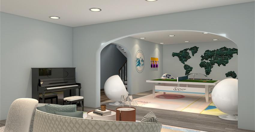 Hilltop Home Interior Design Render