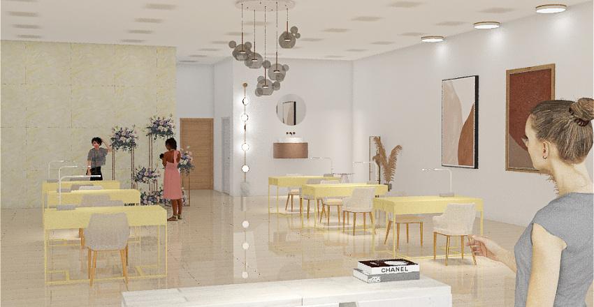 cosmo salon Interior Design Render