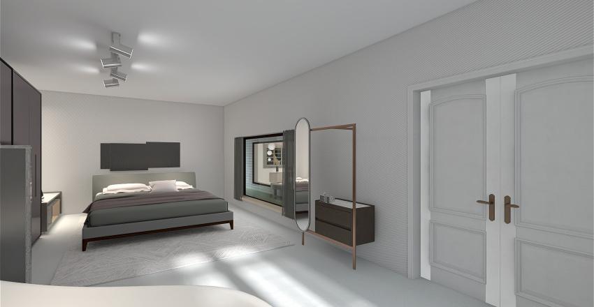 Italian minimalist Interior Design Render