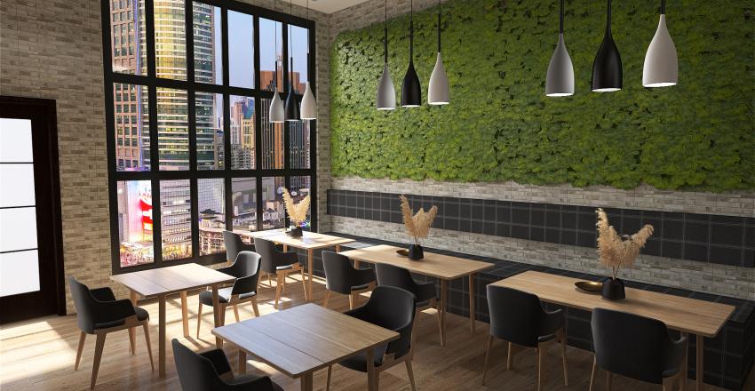 Coffee Shop Interior Design Render