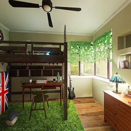 coolest bedroom Interior Design Render