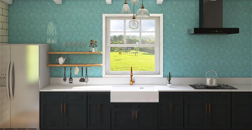 Cozinha campo Interior Design Render