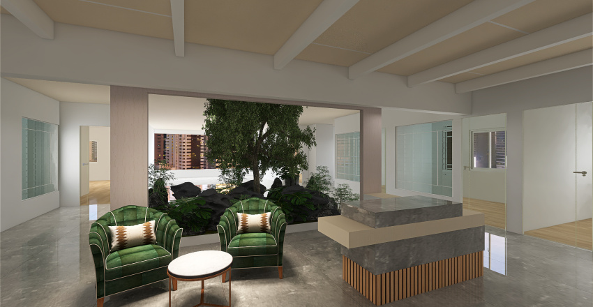 black jaali white ceiling Interior Design Render