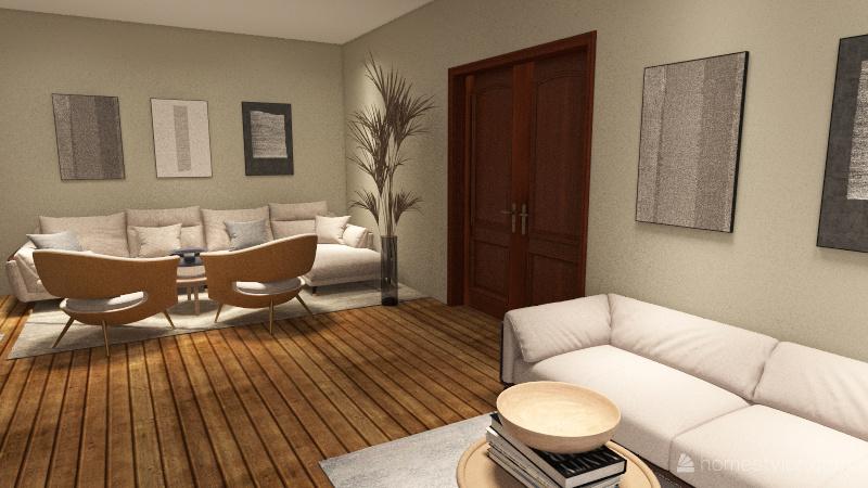 Live, Laugh, Love. Interior Design Render