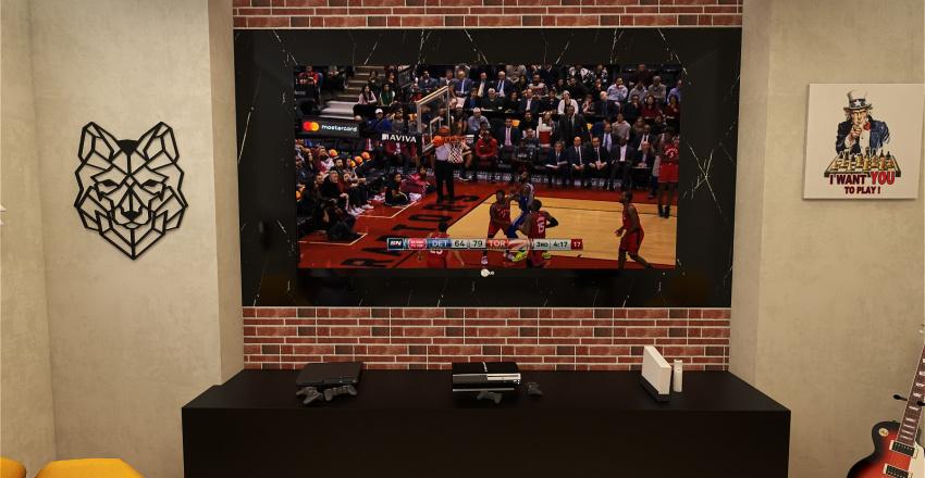 House Game Interior Design Render