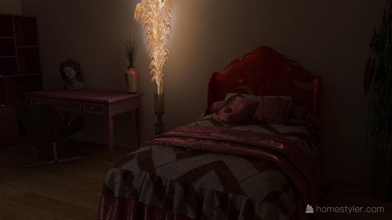 Girls Only room Interior Design Render