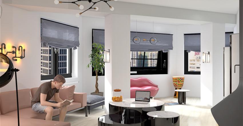 free plan Interior Design Render