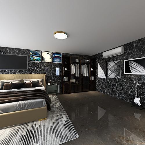 2 people bedroom Interior Design Render