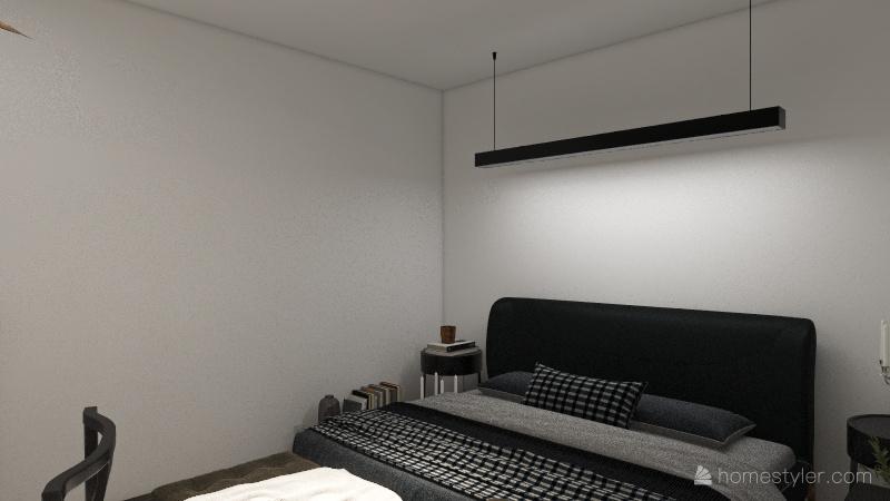 2 Bedroom, 1 Bathroom Unit Interior Design Render