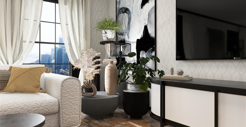 No style or all style Interior Design Render