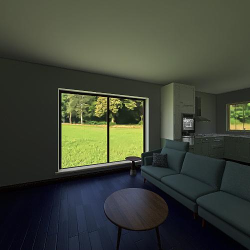Eco-home Interior Design Render