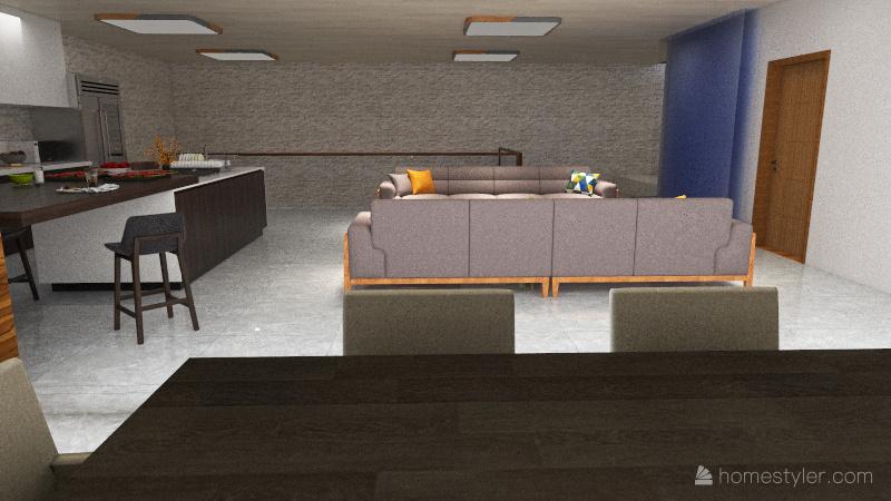 mansion de playa Interior Design Render