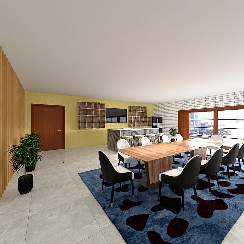 2BHK Cozy Apartment Interior Design Render