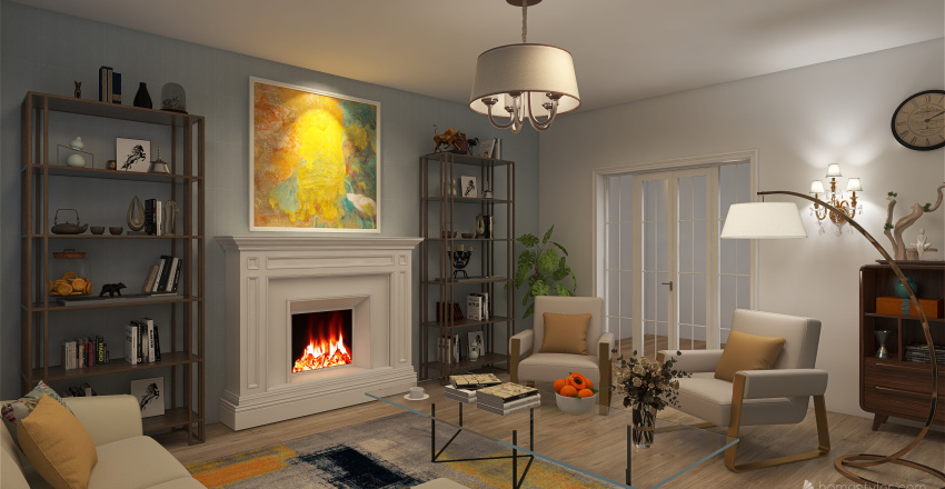 first 3d Interior Design Render