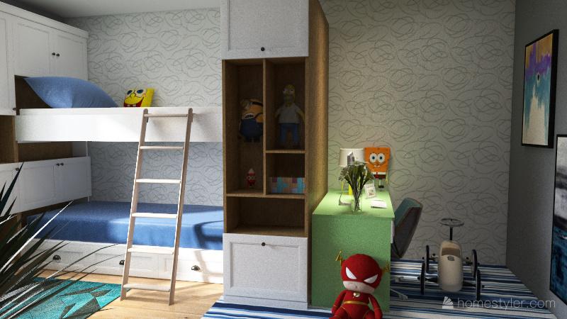 Fun bedroom Interior Design Render