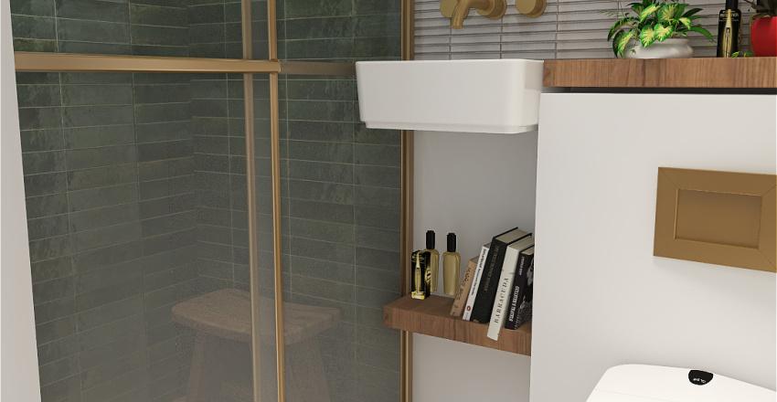 SHOWER WHITE TERRA Interior Design Render
