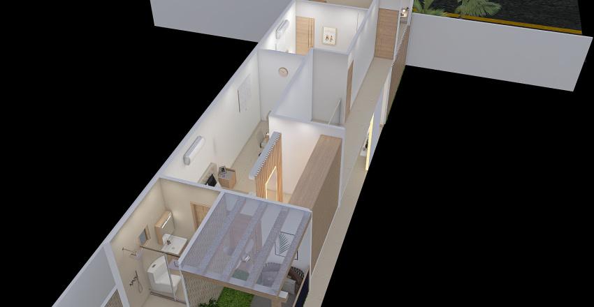 Beige  Interior Design Render