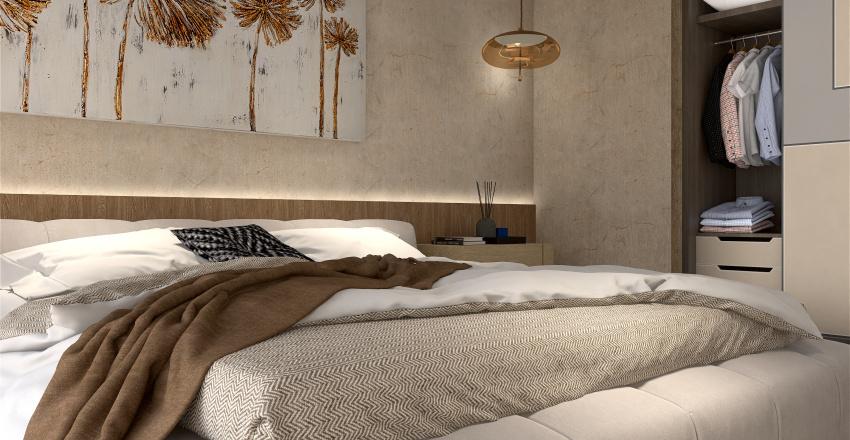 concrete and wood Interior Design Render