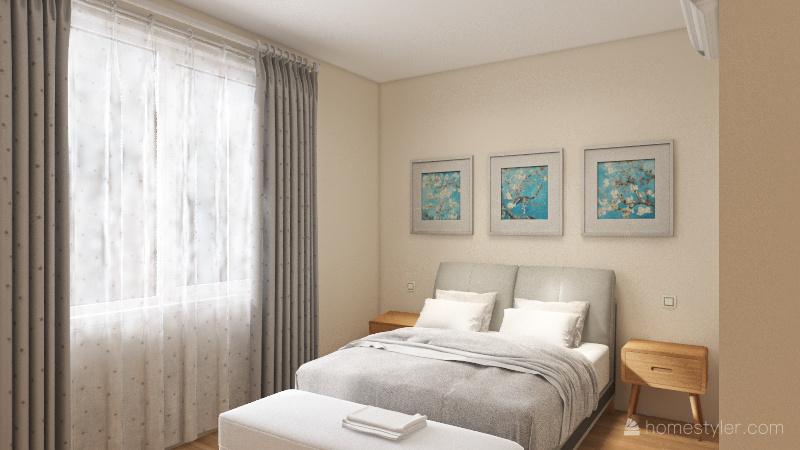 Quarto casal Interior Design Render