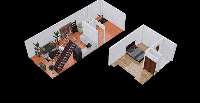 Copy of Lemon Idea 2 bed dwnstrs Interior Design Render