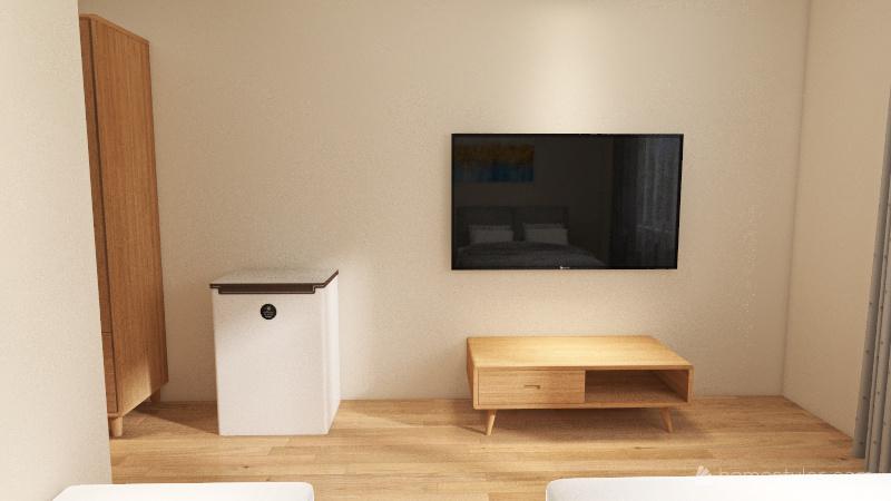Quarto triplo Interior Design Render