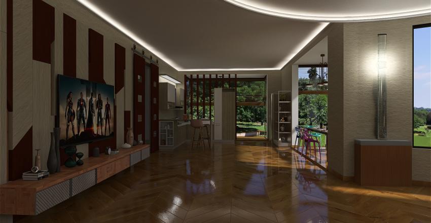 villino Interior Design Render