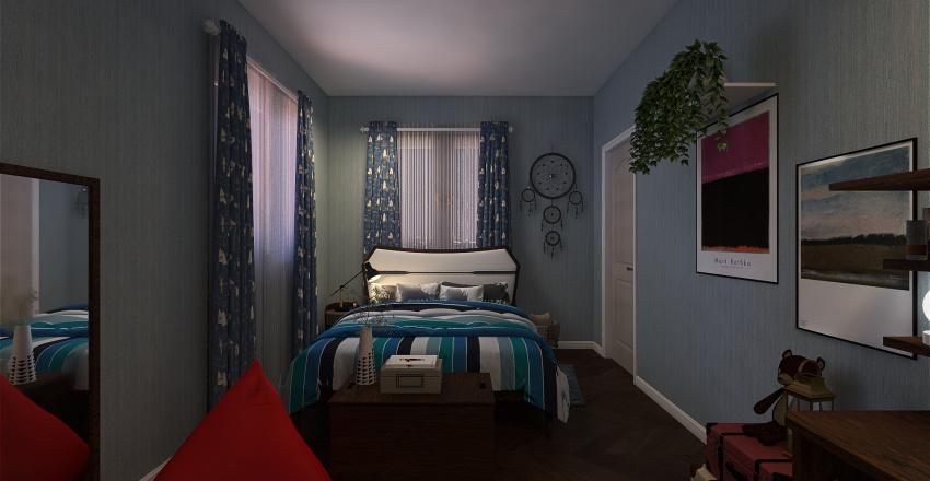 Grey House Interior Design Render