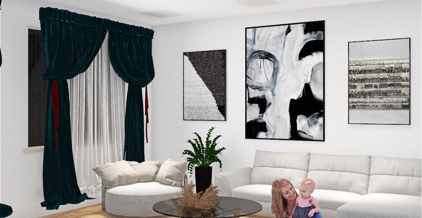 sala minimalista Interior Design Render