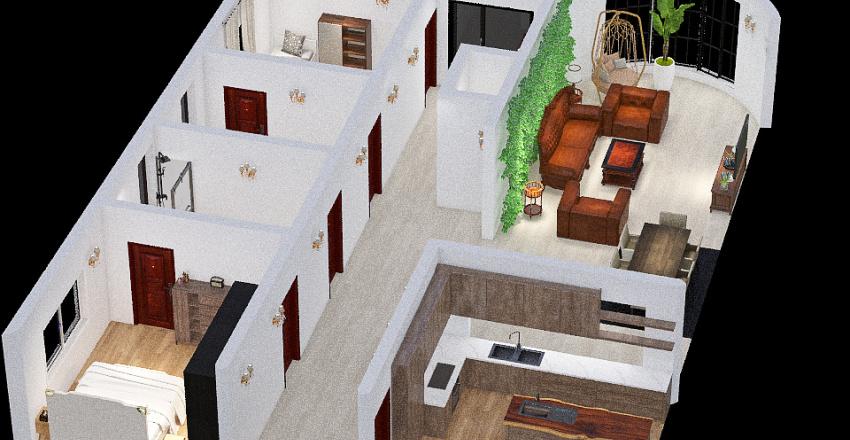 aparement de ville Interior Design Render