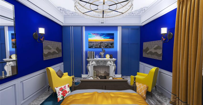 Traditional Interior Design Studio Apartment (Vincent Colour Palette) Interior Design Render