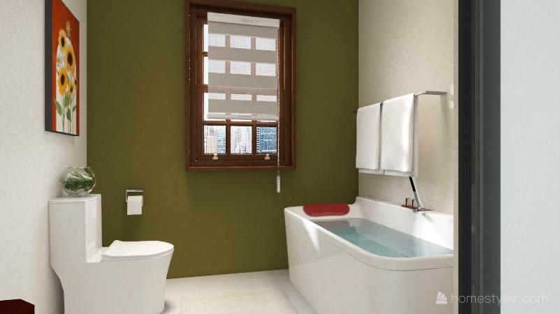 log cabin Interior Design Render
