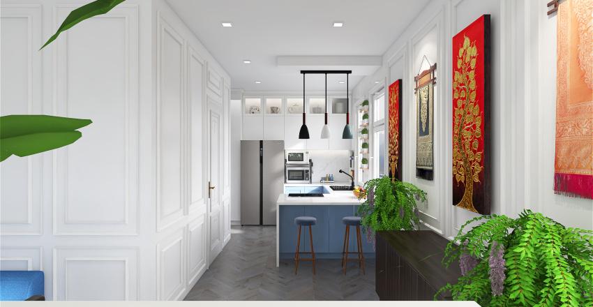 Transitional Style - 40 Sq. M. Studio Unit Interior Design Render
