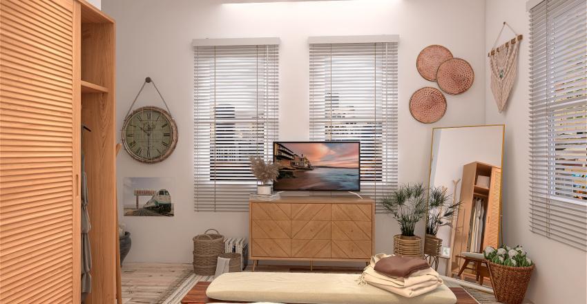 STUDIO TYPE BOHEMIAN STYLE Interior Design Render