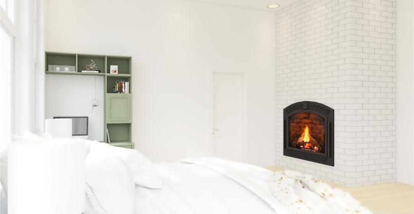 Green accent home Interior Design Render