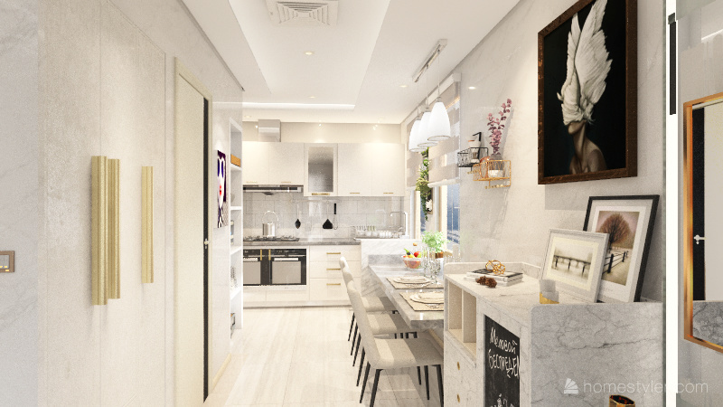 Glam Residence - Studio Unit Interior Design Render