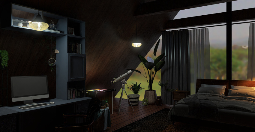 Cabin Interior (Rough Draft) Interior Design Render