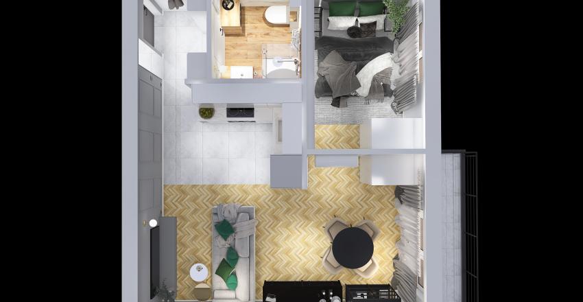 Wolańska Mokotów Warszawa 3 Interior Design Render