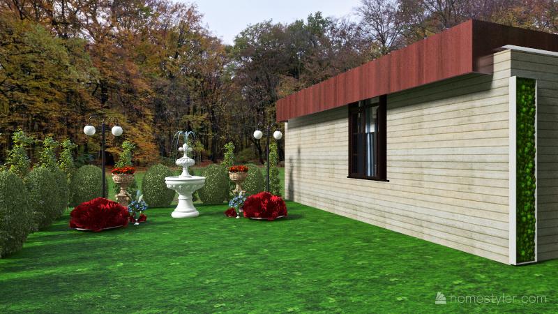 Lucille's Garden House Interior Design Render