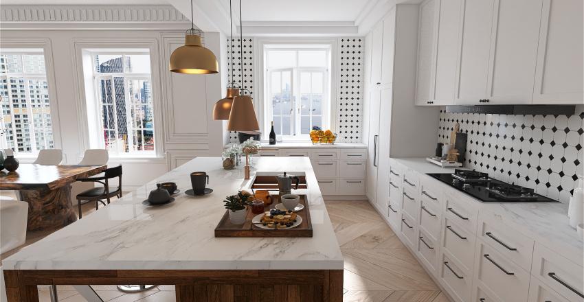 Apartamento en Paris Interior Design Render