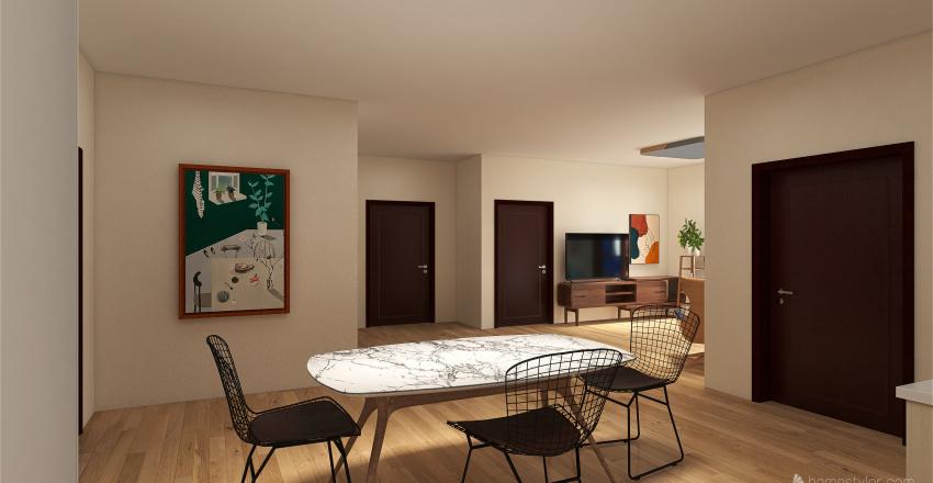 2 person apartent Interior Design Render