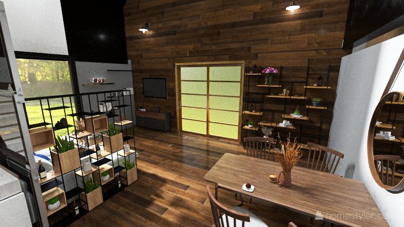 Modern burn Interior Design Render
