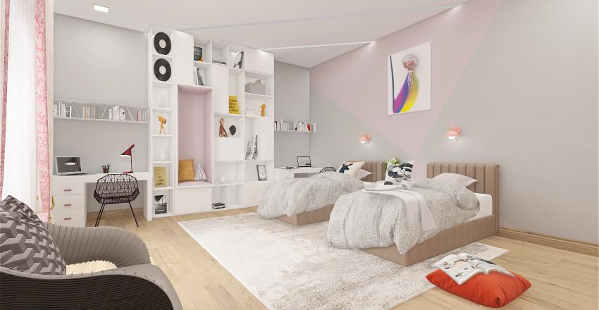 villa moderne Interior Design Render