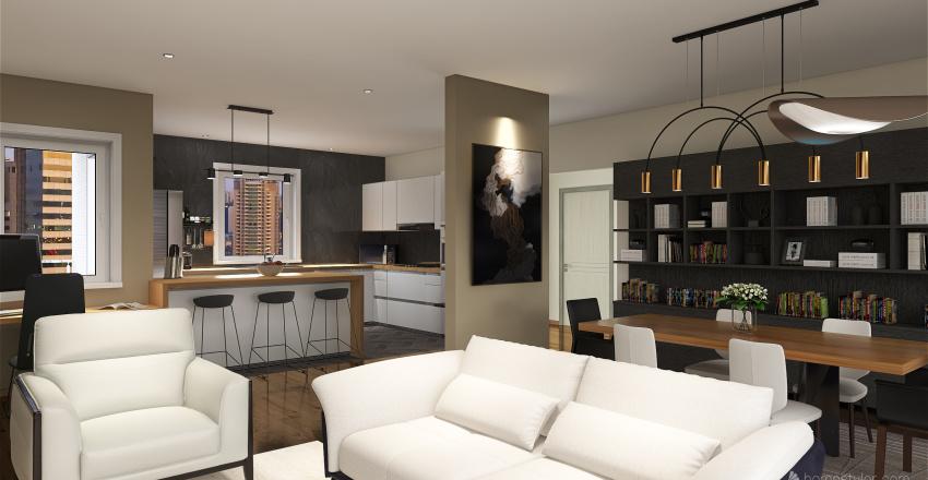 Family Place Interior Design Render